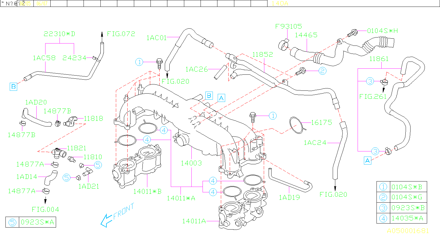 Subaru Outback Connector Assembly